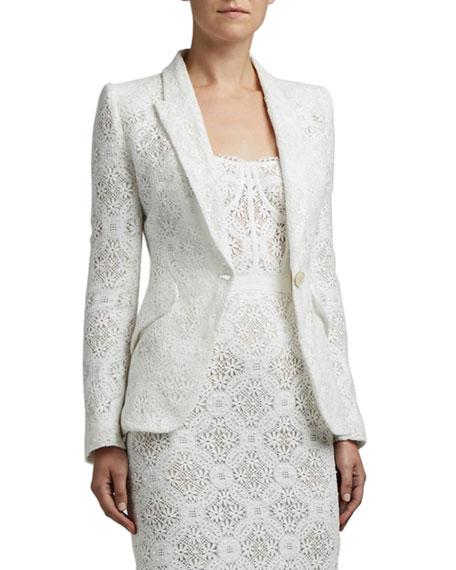 Alexander McQueen Lace Crocheted Blazer