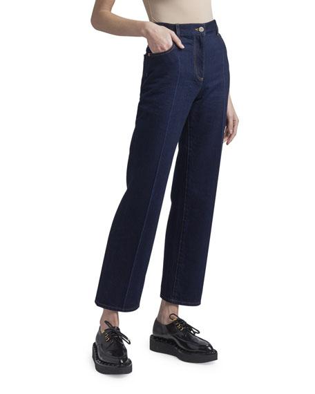 Valentino Crop Denim Flare Jeans