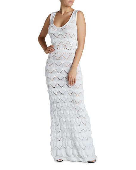 Maison Ullens Macrame Maxi Bodycon Dress