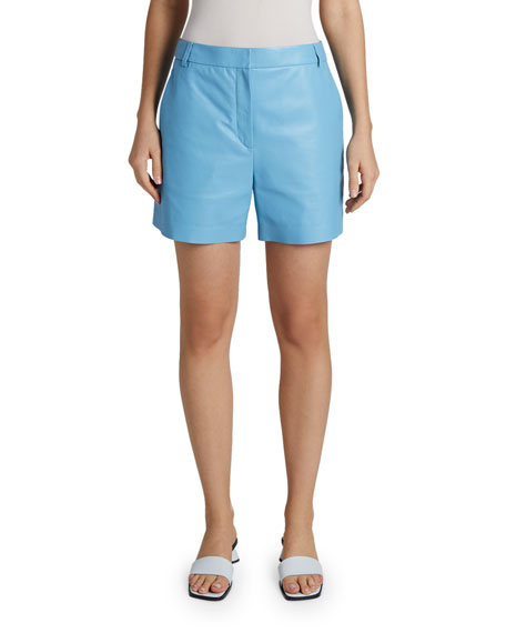 Maison Ullens Leather Mid-Length Shorts