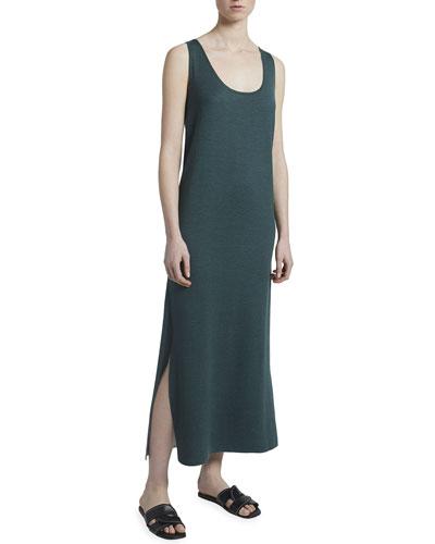 Midi Navy Floral 2-Way Reversible Silk Dress