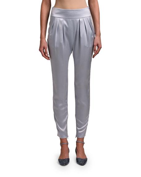 Giorgio Armani Silk Pleat Front Pants