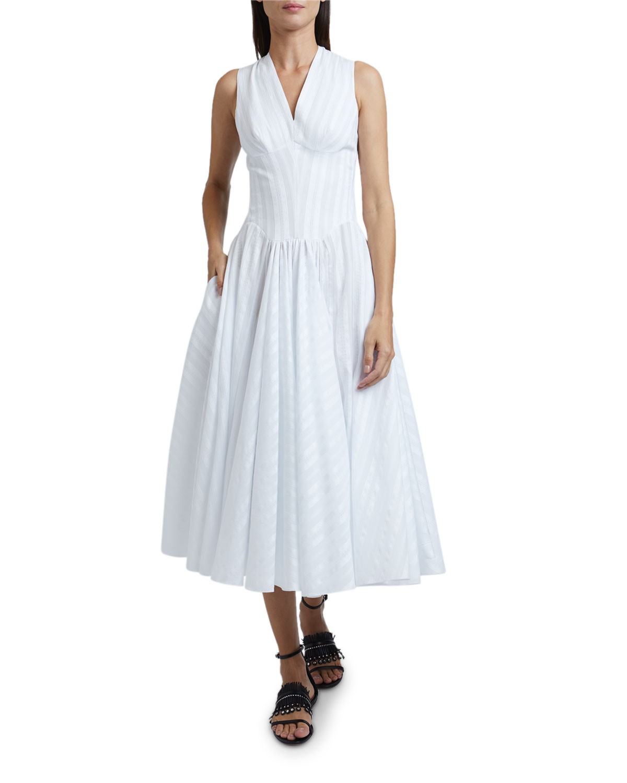 Striped Cross-back Dress