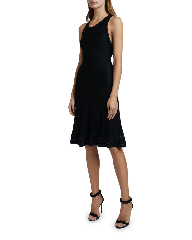 Jersey Cross-back Knee-Length Dress