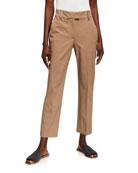 Brunello Cucinelli Cotton Straight-Leg Crop Pants