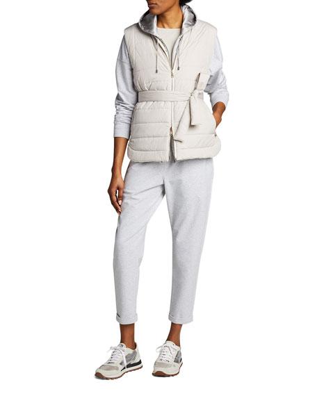 Brunello Cucinelli Cashmere-Silk Boat-Neck Sweater