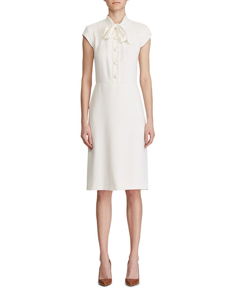 Ralph Lauren Collection Carlisle Cap-Sleeve Shirtdress