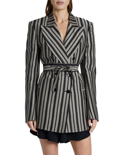 Adelaide Tailored Cotton-Silk Jacket