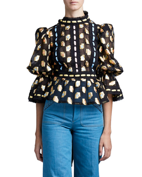 Marc Jacobs (Runway) Fil Coupe Victorian Blouse