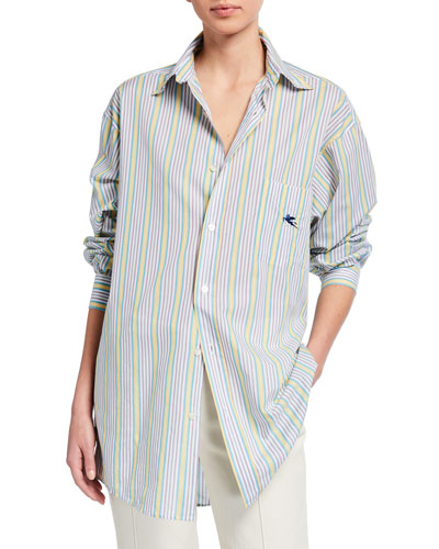 Pegasus Striped Menswear Shirt, Gold