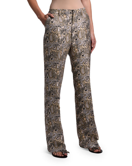 Etro Paisley Brocade Pants