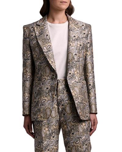 Paisley Brocade Blazer Jacket