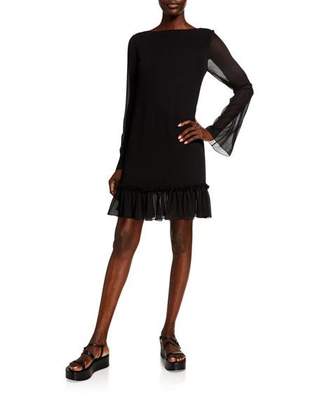 ADEAM Plisse Chiffon Dress