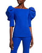 ADEAM Puff-Sleeve Japanese Crepe Top and Matching Items