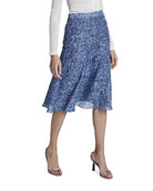 Altuzarra Ruri Floral-Print Cotton-Silk Midi Skirt
