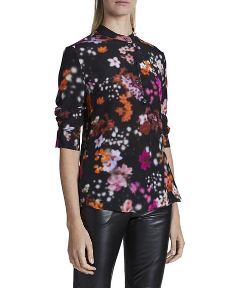 Altuzarra Kumi Floral-Print Silk Shirt