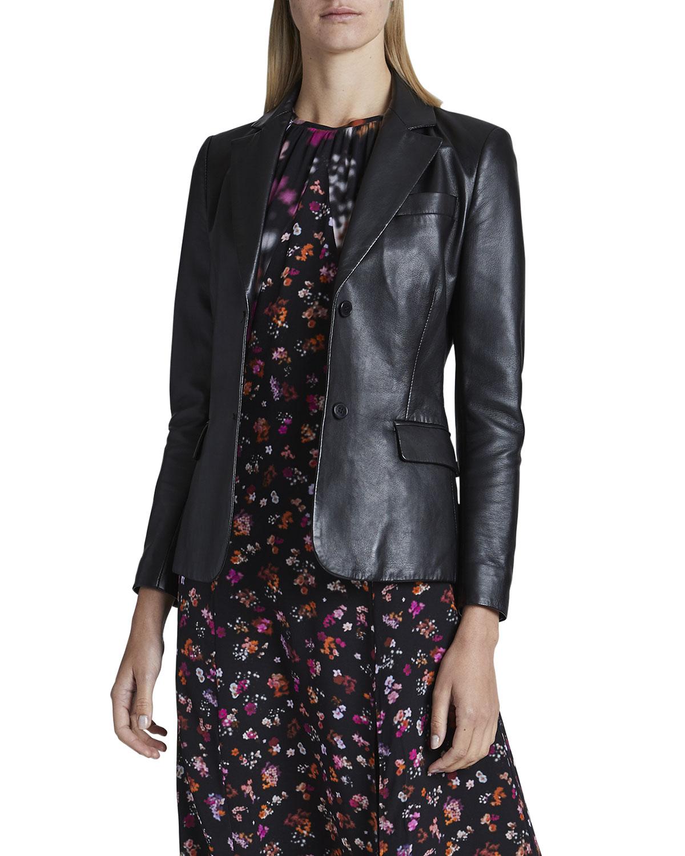 Egan Leather Blazer Jacket