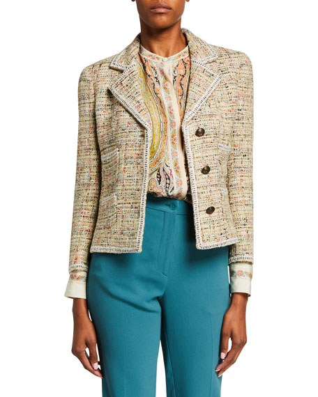 Etro Tweed Knit Cardigan Jacket