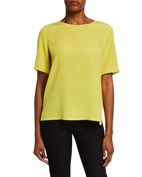 Etro Silk Short-Sleeve Shell