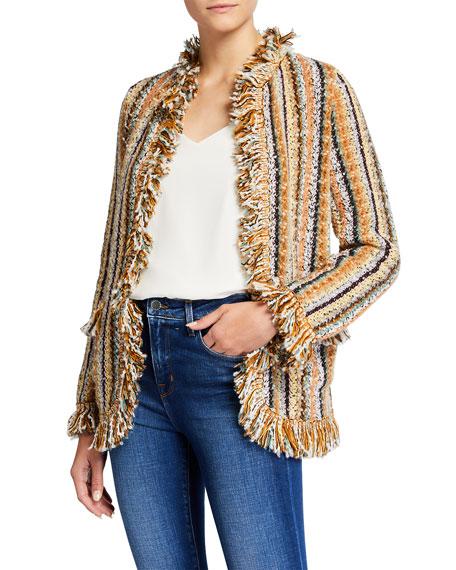 Etro Fringe Stripe Knit Jacket