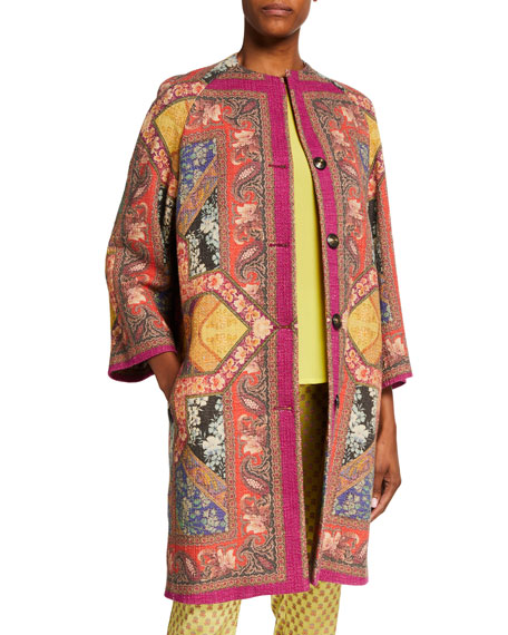 Etro Matelesse Stained Glass Print Coat