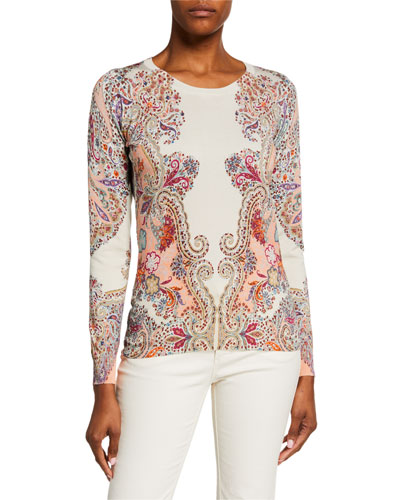 Fitted Silk Sweater | Neiman Marcus