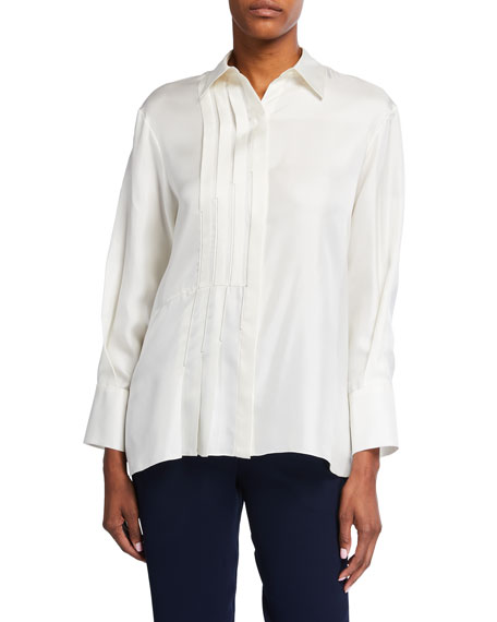 Partow Bower Stitched Silk Shirt