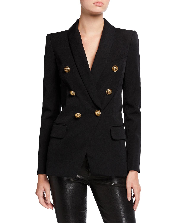 Oversized Wool Double-Breasted Jacket