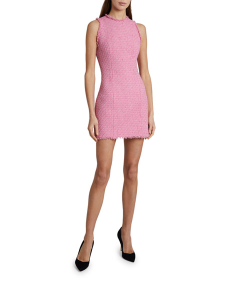 Balmain Sleeveless Tweed Dress