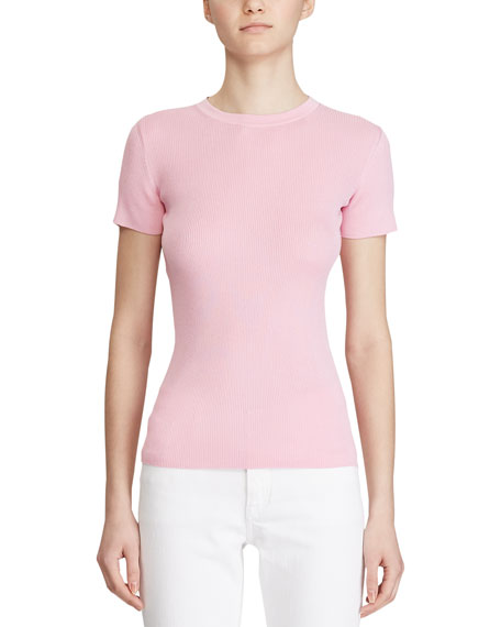 Ralph Lauren Collection Silk Short-Sleeve Sweater