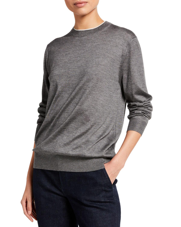 Cashmere Contrast Sweater