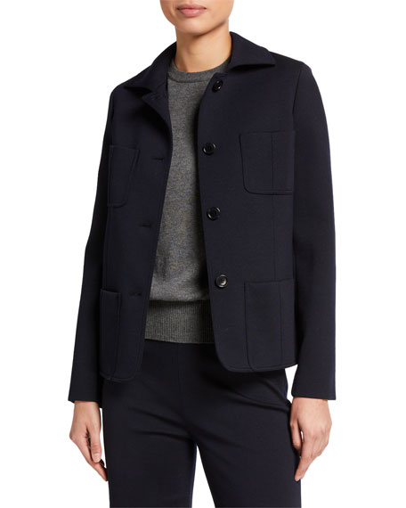 Loro Piana Wool Jersey Short Jacket