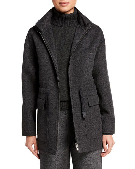 Loro Piana Cashmere Easy Hooded Jacket