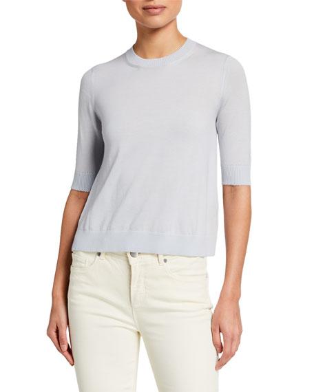 Loro Piana Angel 2.0 Cashmere 1/2-Sleeve Sweater