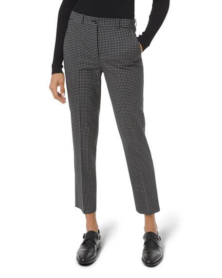 Michael Kors Collection Samantha Grid Plaid Pants