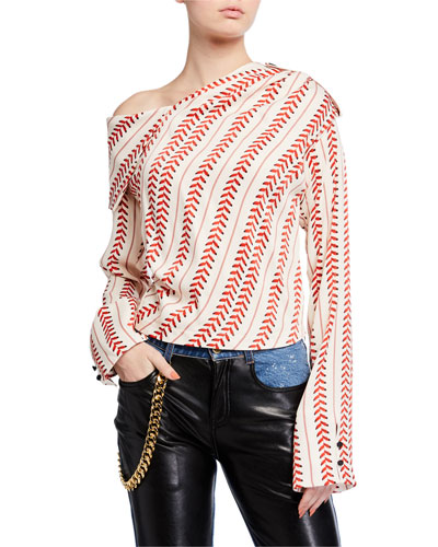 Aube Asymmetric Draped Top