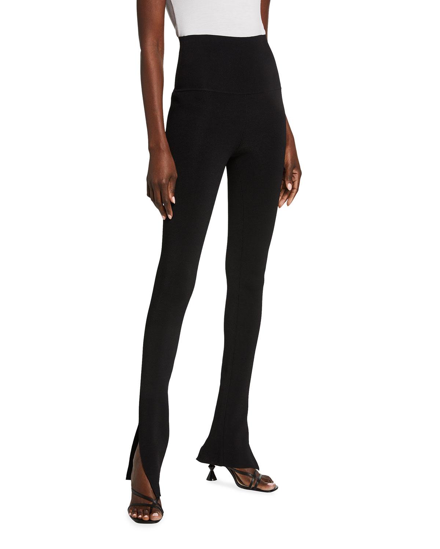 Roonie High-Rise Slit Cuff Pants