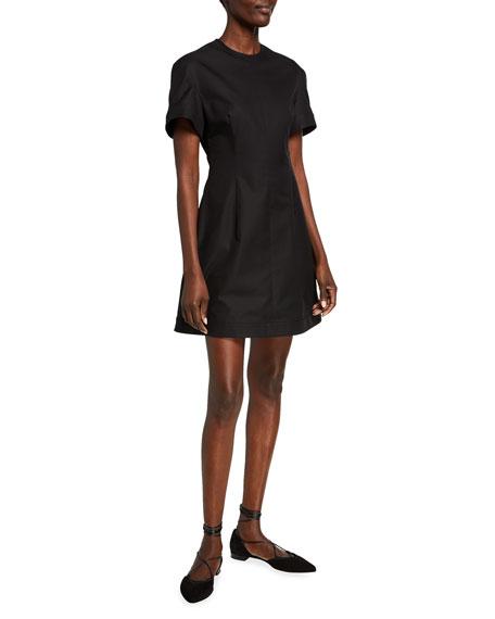 Khaite Marcia Poplin Mini Dress