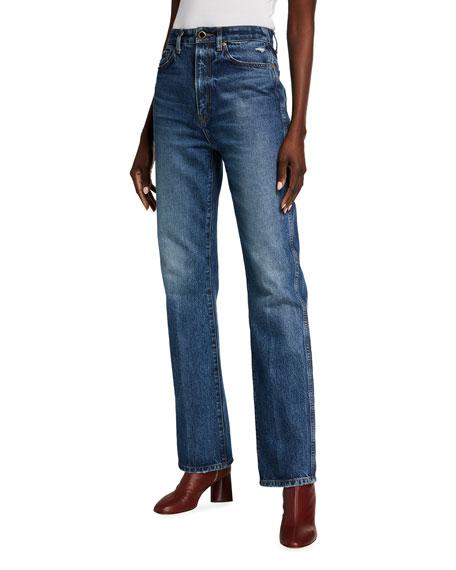Khaite Danielle Straight-Leg Jeans