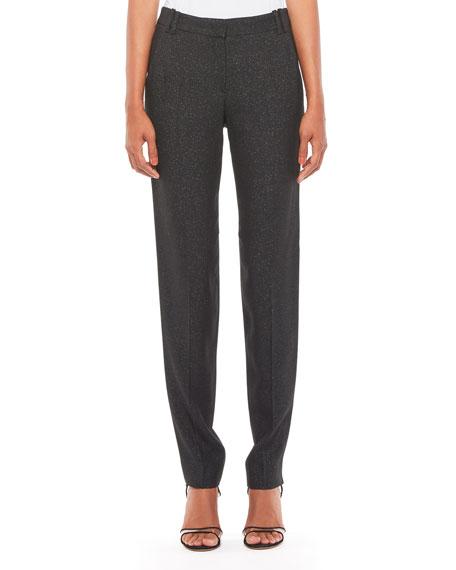 Emporio Armani Metallic Full-Length Trousers