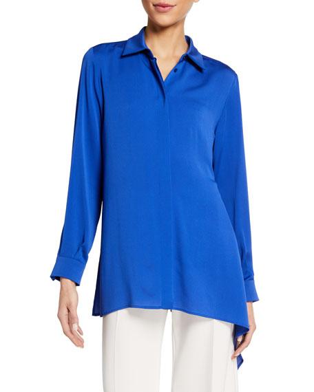 Maxmara Solange Georgette Asymmetric Shirt