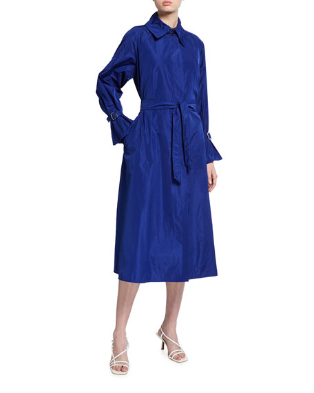 Maxmara Ella Silk Charmeuse Trench Coat