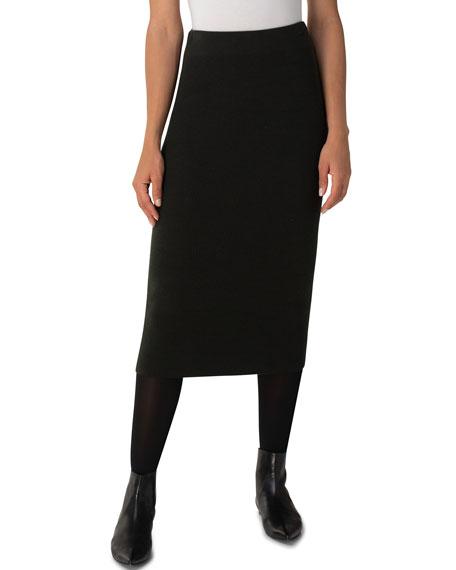 Akris punto Wool-Cashmere Midi Pencil Skirt