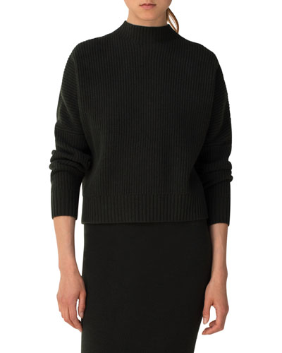 Ribbed Knit Wool Cashmere Sweater | Neiman Marcus