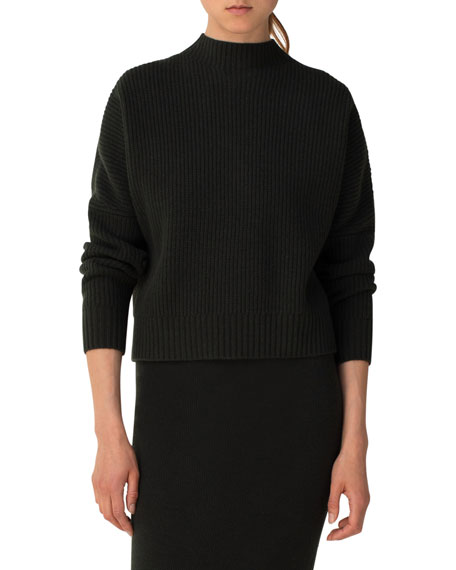 Akris punto Wool-Cashmere Knit Turtleneck Sweater