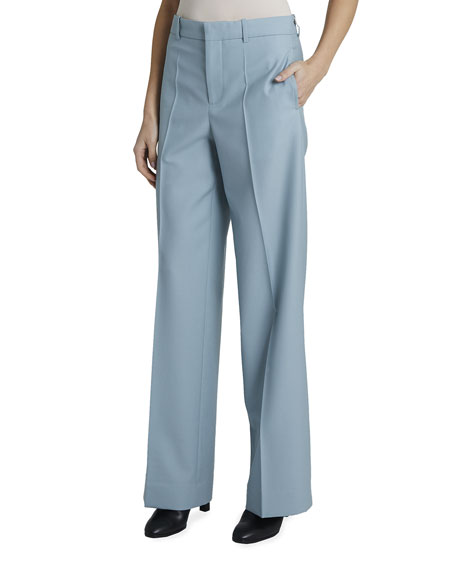 Givenchy Wool Wide-Leg Trousers