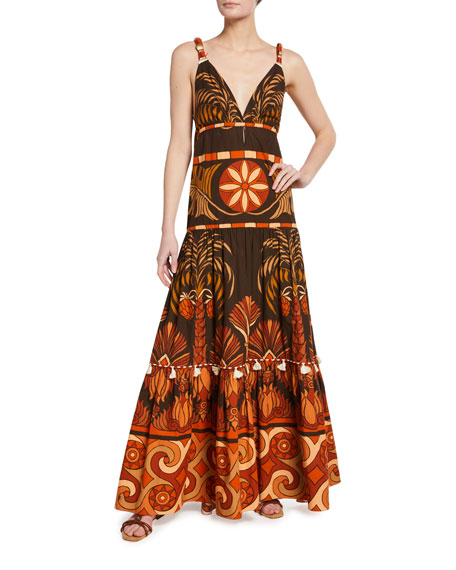 Johanna Ortiz Neptunian Cotton Maxi Dress