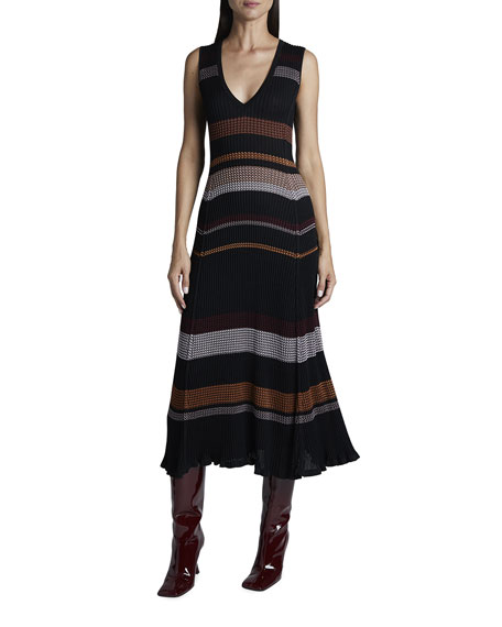 Proenza Schouler Zigzag Knit Sleeveless Dress