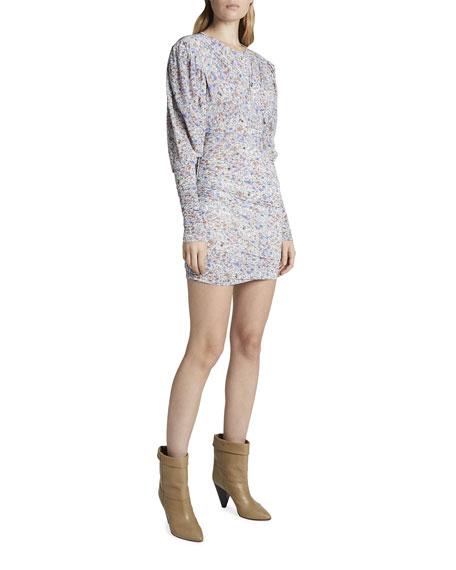 Isabel Marant Floral Print Jersey Mini Dress