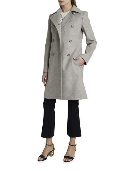 Givenchy Wool-Cashmere Coat With Iris Buttons